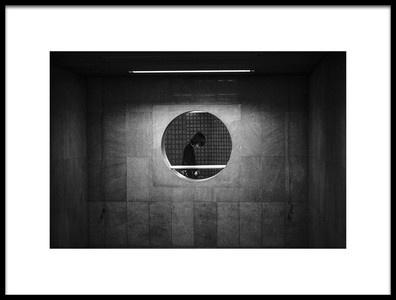 Art print titled Peep In the Hole by the artist Zhou Chengzhou
