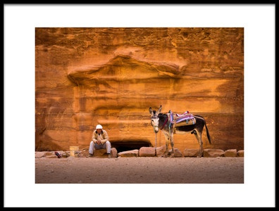 Art print titled Petra Workers by the artist EMY