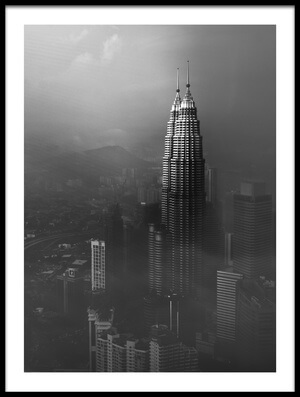 Art print titled Petronas Towers In a Foggy Afternoon by the artist Nader El Assy