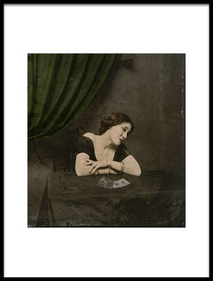 Art print titled Photographer Unknown QuotA Carddivining Victorian Ladyquot by the artist Fuyuki Hattori