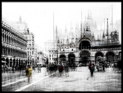 Buy this art print titled Piazza San Marco by the artist Carmine Chiriacò