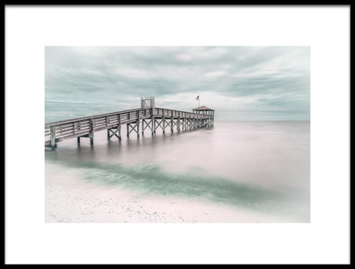 Art print titled Pier by the artist Martin Steeb