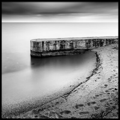 Art print titled Pier On the Beach by the artist George Digalakis