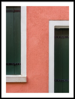 Art print titled Pink & Green by the artist Luc Vangindertael (laGrange)