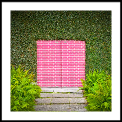 Buy this art print titled Pink Brick Door by the artist David Jordan Williams