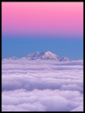 Art print titled Pink In the Sky by the artist Ales Krivec