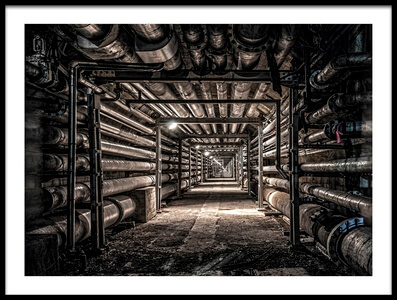 Art print titled Pipe Load by the artist Tomoshi Hara