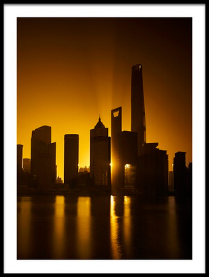Art print titled Planet Shanghai II by the artist Ivan Friedman