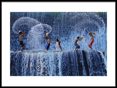 Art print titled Playing With Splash by the artist Angela Muliani Hartojo