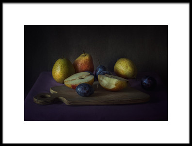 Buy this art print titled Plums and Pears by the artist Lenka
