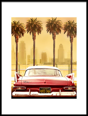 Buy this art print titled Plymouth Savoy With Palms by the artist LARRY BUTTERWORTH