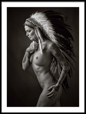 Art print titled Pocahontas by the artist Ross Oscar