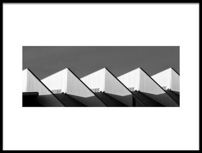 Buy this art print titled Pointy Roof by the artist Thierry Lagandré (Transgressed Light)