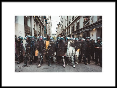 Buy this art print titled Police Made a Wall Art by the artist Ronan Siri