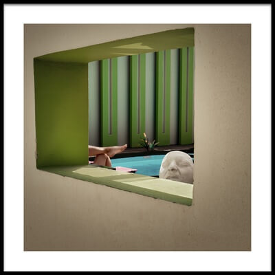 Buy this art print titled Poolside by the artist Pete Richardson