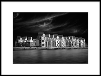 Art print titled Port Houses by the artist Marc Apers
