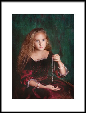 Art print titled Portrait of a Girl With a Necklace by the artist Alina Lankina
