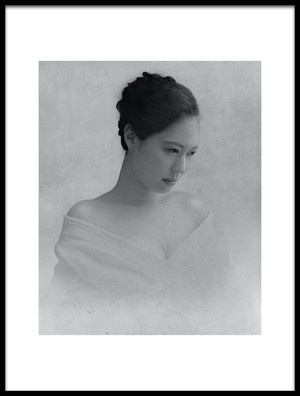 Art print titled Portrait of a Woman to Drop the Line of Sight by the artist Fuyuki Hattori