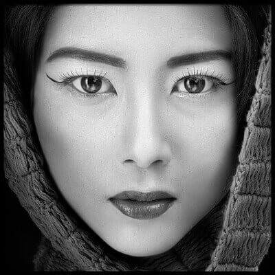 Art print titled Portrait of Icha by the artist Arief Siswandhono