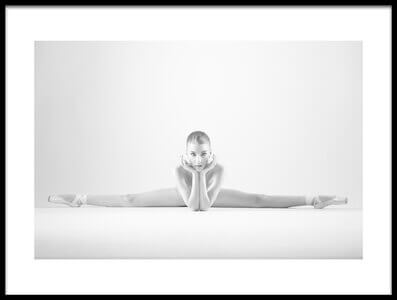 Buy this art print titled Posing Ballerina by the artist Arkadiusz Branicki