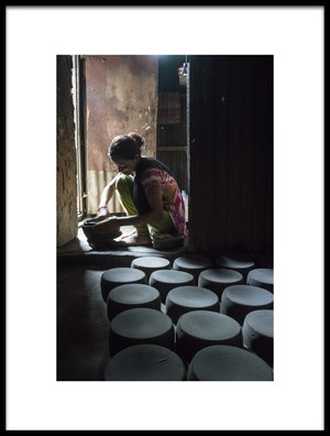 Art print titled Pottery Maker by the artist Adam Wong