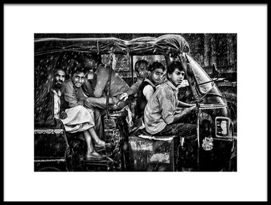 Art print titled Pouring Rain In Rajasthan by the artist Massimo Cuomo