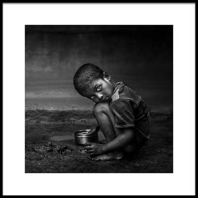 Art print titled Poverty Life by the artist Fadhel Almutaghawi
