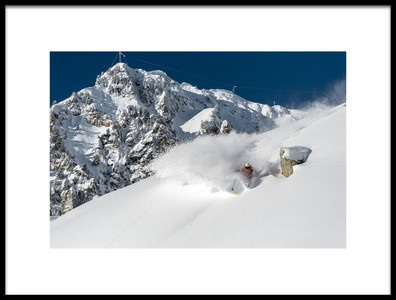 Art print titled Powder Turn With Romain Grojean by the artist Tristan Shu