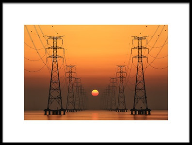 Buy this art print titled Power Line by the artist Tiger Seo