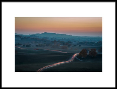 Art print titled Prairie Dusk by the artist C. Mei