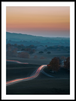 Buy this art print titled Prairie Dusk by the artist C. Mei