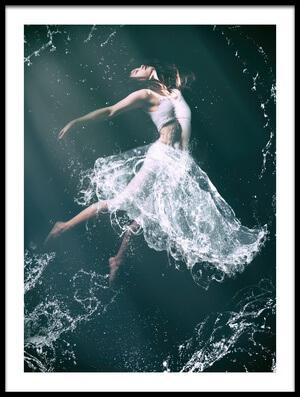 Art print titled Princess of Water by the artist Daisuke Kiyota