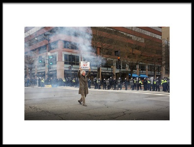 Art print titled Protest Riot by the artist Miki Joven