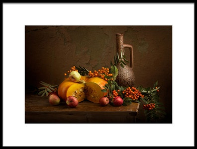 Art print titled Pumpkin and Rowan by the artist Stanislav Aristov