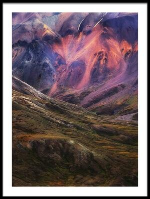 Art print titled Purple Land by the artist Atul Chopra