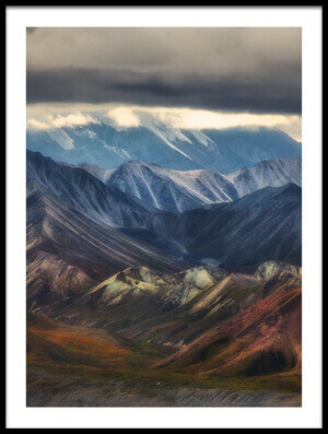 Buy this art print titled Purple Mountains by the artist Atul Chopra