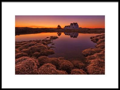 Art print titled Purple Sunset by the artist Bragi Ingibergsson - BRIN
