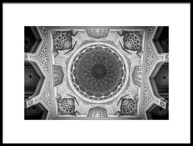 Art print titled Putrajaya Mosque Dome by the artist Amr A. Rahman Mohamed