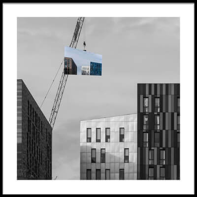 Art print titled  the Addition of Colour In Modern Architecture by the artist Dave Quince