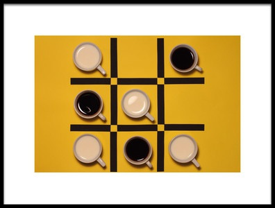 Art print titled QuotMilk Versus Coffeequot by the artist Alfredo Lemos