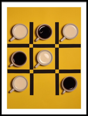 Art print titled Milk Versus Coffee by the artist Alfredo Lemos