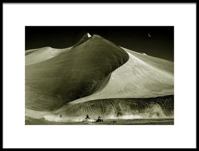 Art print titled Racing at Big Dunes by the artist Charles Lai