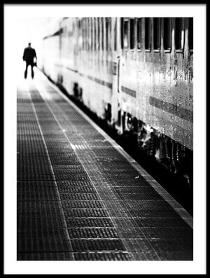 Art print titled Railway Platform by the artist Anna Niemiec
