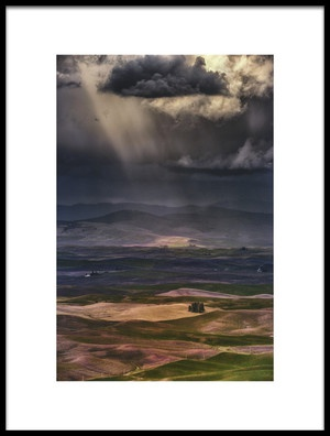Art print titled Rain Clouds by the artist Lydia Jacobs