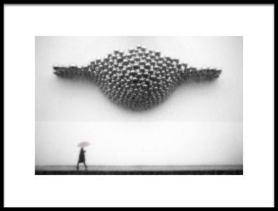 Art print titled Rain Clouds by the artist Tina Kim