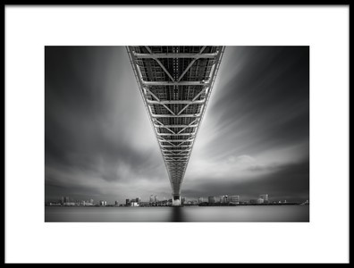 Art print titled Rainbow Bridge Profile by the artist Dr. Akira TAKAUE