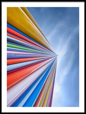 Buy this art print titled Rainbow from a Cloud by the artist Nadav Jonas