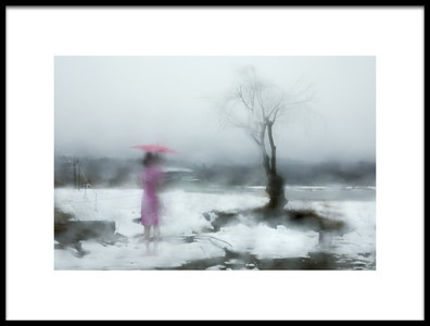 Art print titled Raining Day by the artist Libby Zhang