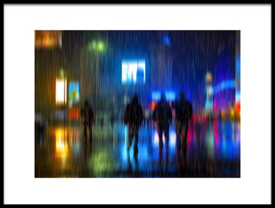 Art print titled Rains Colors by the artist Hans Wolfgang Müller