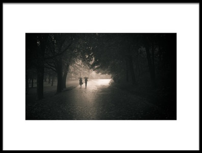 Art print titled Rainy Afternoom by the artist Pedram Khoshbakht